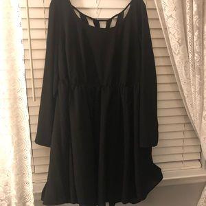 Long sleeve shirt black dress from torrid size 2